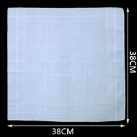 White Handkerchief Men And Women Cotton White Handkerchief Plain Weave Small Square Towel Dozen Dozen