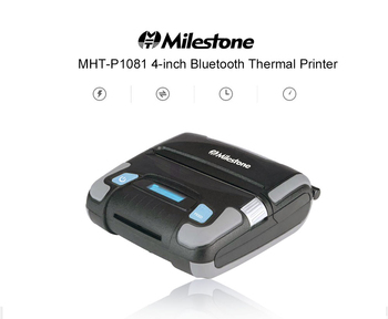 Веха MHT-P1081 4-дюймовый Термальный чековый принтер 108 мм беспроводной Bluetooth принтер Поддержка Android IOS Windows Бесплатная доставка