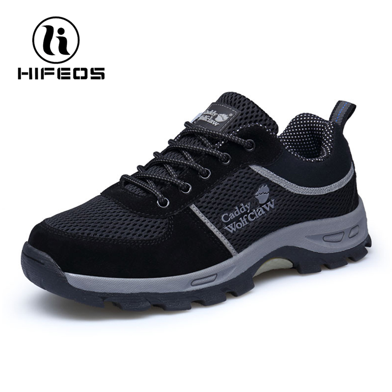 HIFEOS Hiking Boots Summer Comfortable Men Outdoor Male Breathable Non-Slip Boots Mountain Climbing Athletic Shoes Trekking M008 цена и фото