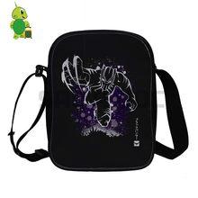 fbc534d5d16b Avengers Black Panther Fluorescence Mini Shoulder Bag Women Men Crossbody  Handbag Kids Daily Messenger Bag Phone