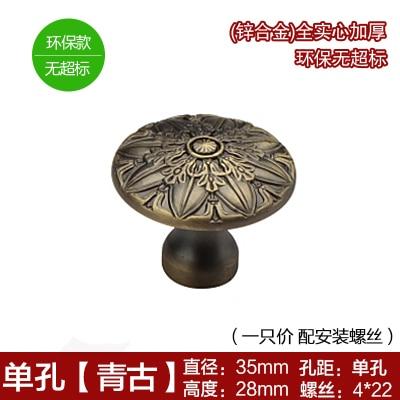 Одна ручка/отверстие CC 96 мм/128 мм античная латунь/красная медь мебель роскошная ручка тяга для кухонных шкафов Дверь Шкаф - Цвет: Antique Brass Knob