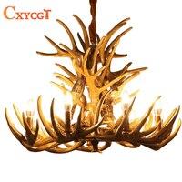Brown Antlers Resin Chandelier Lamp Modern LED Antler Chandelier Lustre Chandeliers E14 Vintage Lights Novelty Lighting