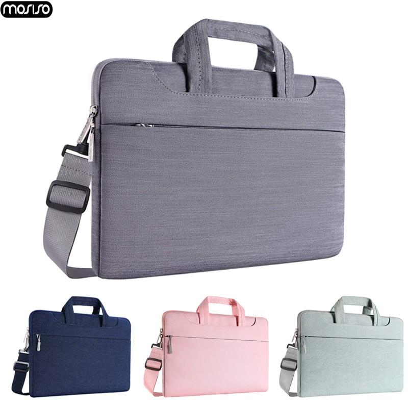 MOSISO Laptop Bag Case 15.6 15.4 13.3 Waterproof Notebook Shoulder Bags Women Men for MacBook Air Pro 13 15 inch  Computer Bag-in Laptop Bags & Cases from Computer & Office