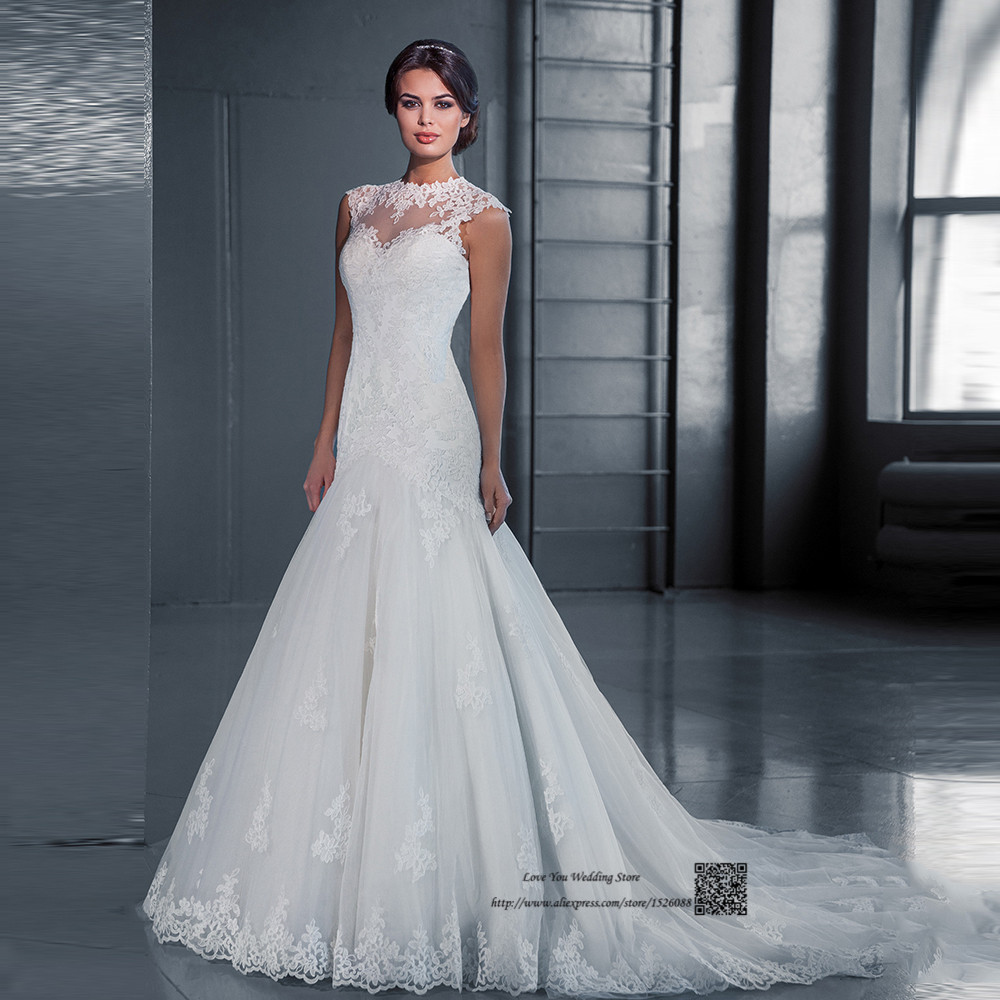 Wedding Gowns Prices In China : Wedding dress lace bride dresses o neck cap sleeve gowns
