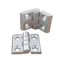 Bisagra de Metal de perfil de aluminio, bisagra de aleación de Zinc con tornillos opcionales, 2020, 3030, 3040, 4040, 1 unidad