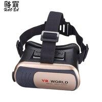 HAOBA VR Monde 3D Lunettes VR Casque de Réalité Virtuelle VR MONDE Lunettes 3D Lunettes Google Carton À Distance Portable pour Téléphones