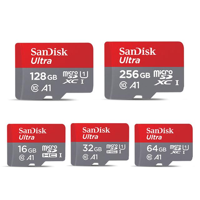 Karta Micro SD SanDisk 16GB 32GB 64GB 128GB 256GB 400GB karta pamięci C10 U1 a1 Flash TF karta microSD dla telefonu komputer SDXC SDHC