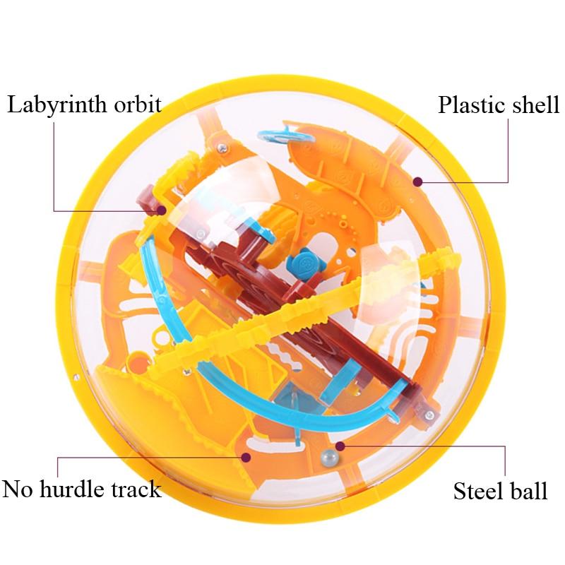 3D Magic Intellect Maze Ball Puzzle Game perplexus magnetic balls IQ Balance toy Children Educational toys Ball Maze & base