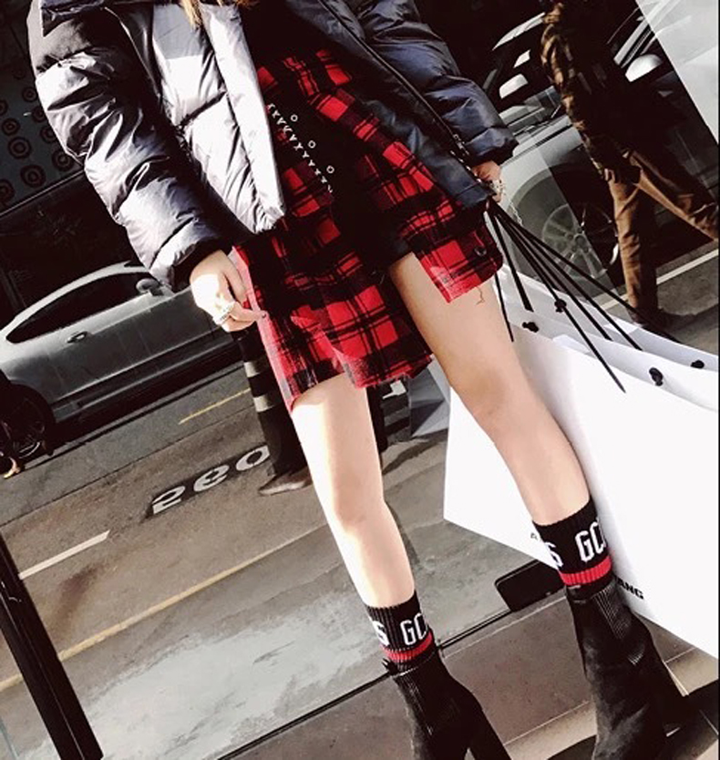 3 Pairs lot Mens Womens Socks Harajuku Funny Socks GCDS Letter Cotton Socks Kawaii Women Socks Casual Comfortable White Black in Socks from Underwear Sleepwears