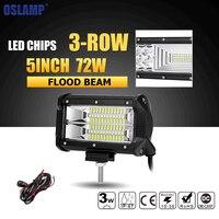 Oslamp 7D 7inch 60W CREE Chips LED Work Light Bar Offroad Spot Flood Combo Beam Truck