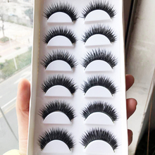 1 Box 6 Pairs False EyeLashes Thick Black Eye Lashes Makeup Tips Natural Smoky Long Fake Eyelashes Maquiagem
