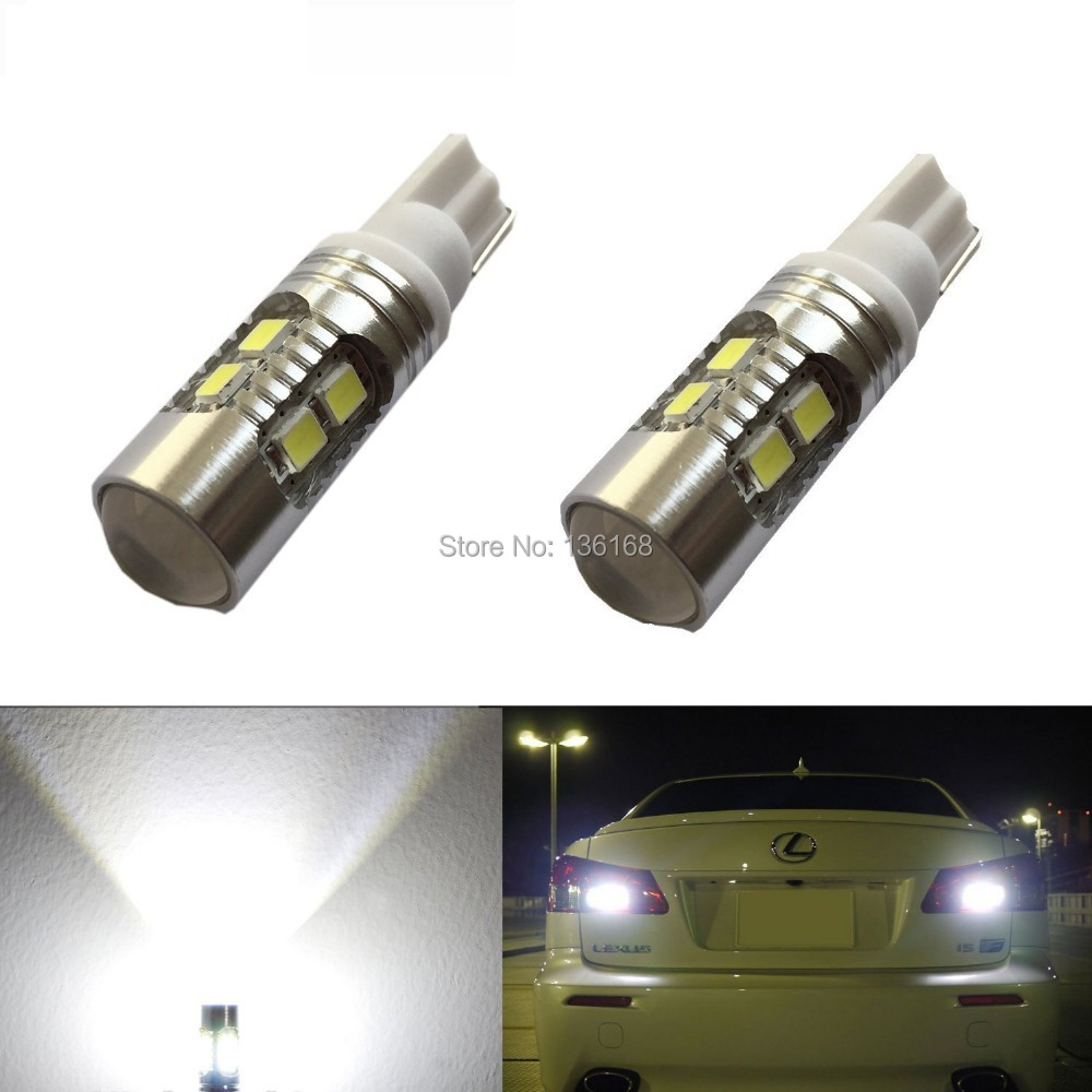 On Sales!Super Bright AX-2835 SMD 912 921 T10 W5W Backup Reverse Light Bulbs,Parking lights, White Same Bright