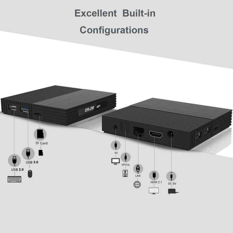 TV Box A95XF2 4G 32GB 64GB Android 9.0 TV Box 2.4/5.0G WIFI Bluetooth 4.2 kontrol Suara Amlogic S905X2 Smart Kotak TV Box Android