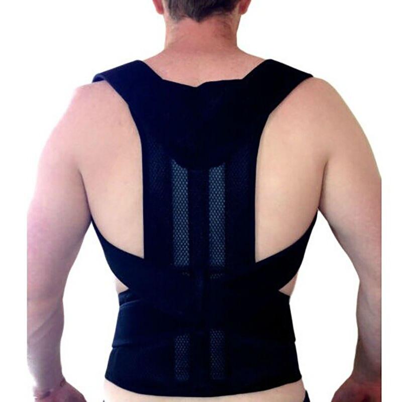 Adjustable Male Corset Back Posture Corrector Back Support Men Back Belt Support Spine Support Belt Karset Gift for Husband B003
