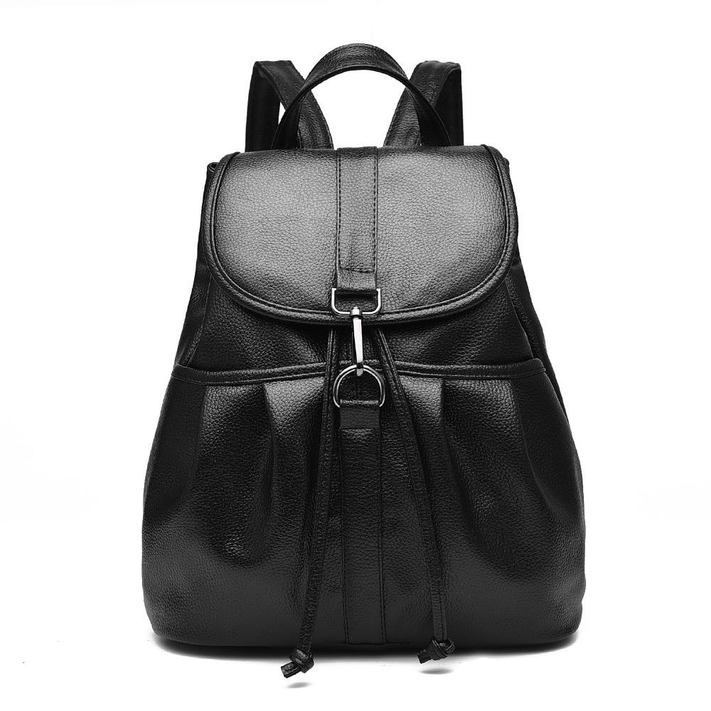 Fashion women leather backpacks high quality school bag backpack famous brand women rucksack women bags shoulder bag