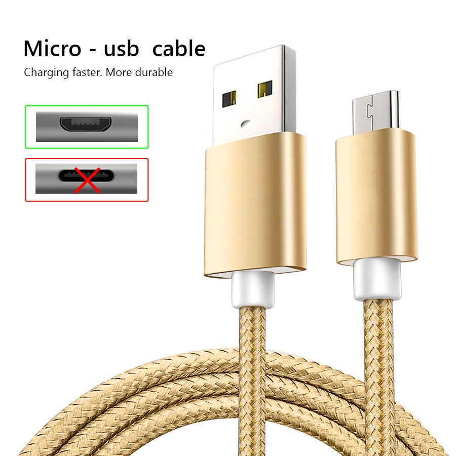 3A Micro USB Kabel 3 M Cepat Pengisian Nilon USB Sync Data Ponsel Android Adaptor Kabel Charger untuk Samsung xiaomi Redmicable