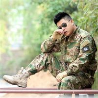 Tactical Camo Jacket+Pants Hunting Clothes Ghillie Suit Army Uniform Woodland Military Airsoft Digital Desert Camouflage Uniform