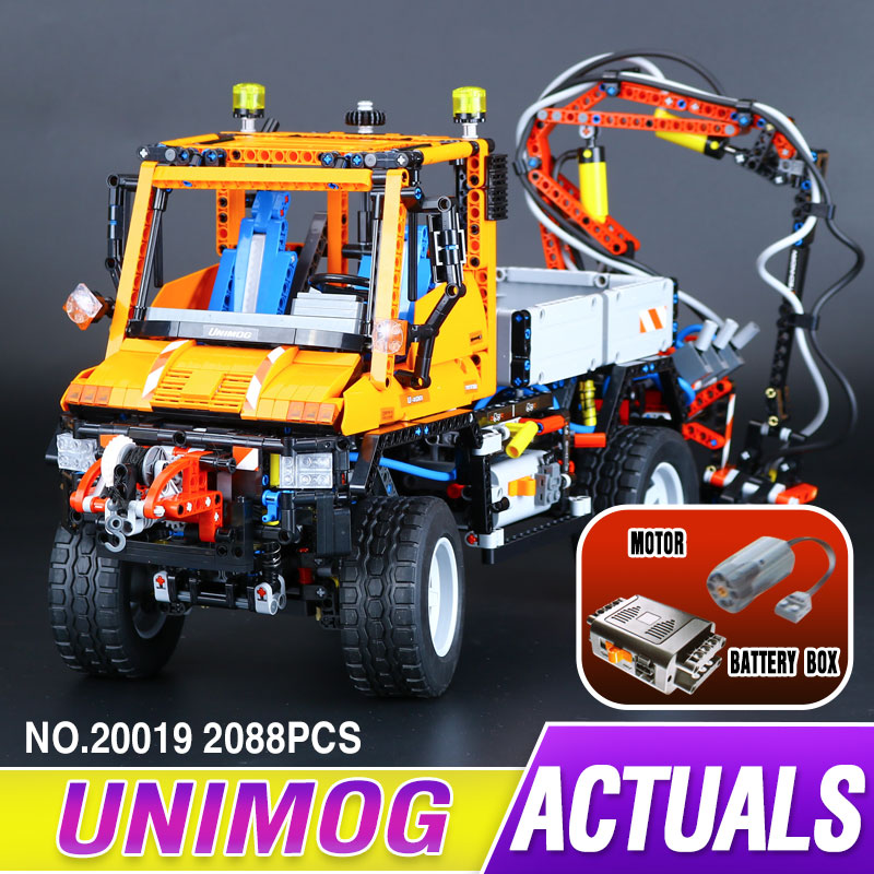 2017 New LEPIN 20019 2088Pcs Technic Truck Unimog U400 Model Building Kits Blocks Bricks Compatible Toys 8110 for children gift new lepin 22001 pirate ship imperial warships model building kits block briks toys gift 1717pcs