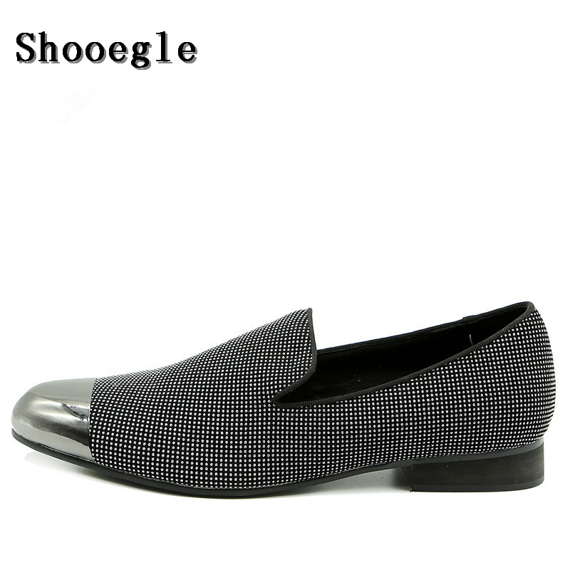 SHOOEGLE Men Foreign Trade Custom Shoes Slip On Casual Metal Toe Slipper Men Shoes Fashion Breathable Nightclub Stage Shoes ManSHOOEGLE Men Foreign Trade Custom Shoes Slip On Casual Metal Toe Slipper Men Shoes Fashion Breathable Nightclub Stage Shoes Man