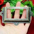Antique Iron Office File Drawer Door Tag Label Frame Name Card Holder large Size 117 * 61MM