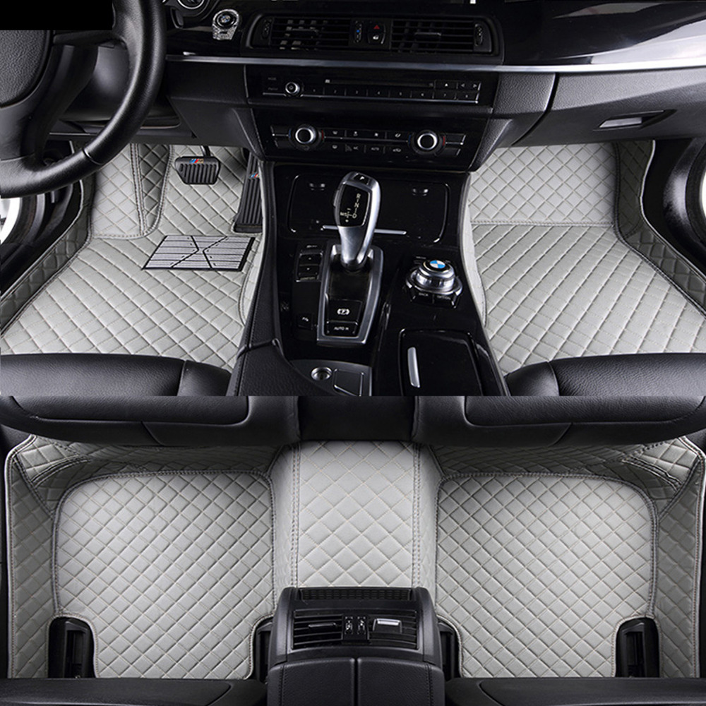 Car floor mats for Hyundai ix25 ix35 Elantra SantaFe Sonata Solaris Veloster Waterproof leather carpet linersCar floor mats for Hyundai ix25 ix35 Elantra SantaFe Sonata Solaris Veloster Waterproof leather carpet liners