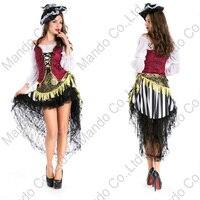 Volwassen Vrouwen Sexy Viking Piraat cosplay kostuum halloween Fancy outfit Meisjes Maskerade partij kostuum