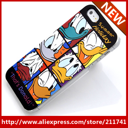 FREE SHIPPING 1 PCS Retail wholesale  2013 for Donald Duck carton design mobile phone case for iphone 5 case