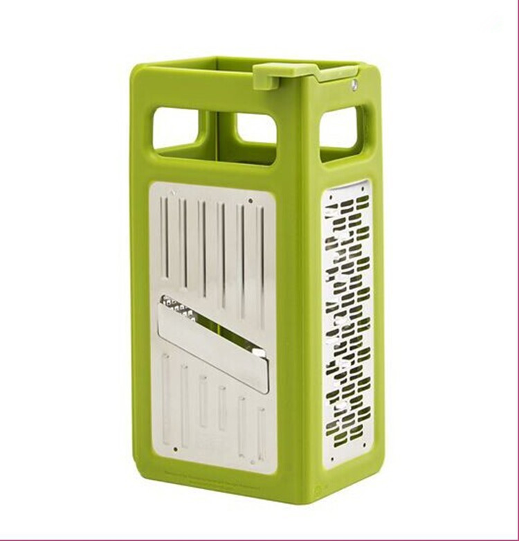 4 Sides Folding Box Grater Kitchen Gadgets Device Shredder Cheese Slicer Flat Coarse Fine Ribbon Etched Blades -50