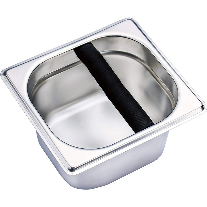 Bucket:  Household Stainless Steel Italian Style Coffee Machine Waste Slag Bucket Coffeeware - Martin's & Co
