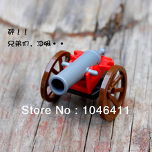 10pcs lot Cannon Minifigure fit all brand Building font b Block b font doll Loose Brick