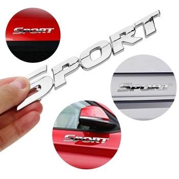 цена на LEEPEE Auto Door Decal SPORT Emblem Badge Universal Car Sticker 3D ABS Chrome Logo For Toyota Highlander BMW HONDA VW KIA