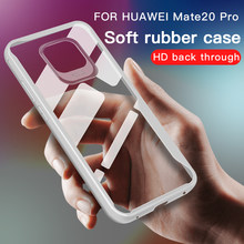 Clear Phone Case For Huawei Mate 20 Pro Soft TPU Silicone Anti-knock Back Cover For Mate 20 Lite Transparent Protective Case(China)