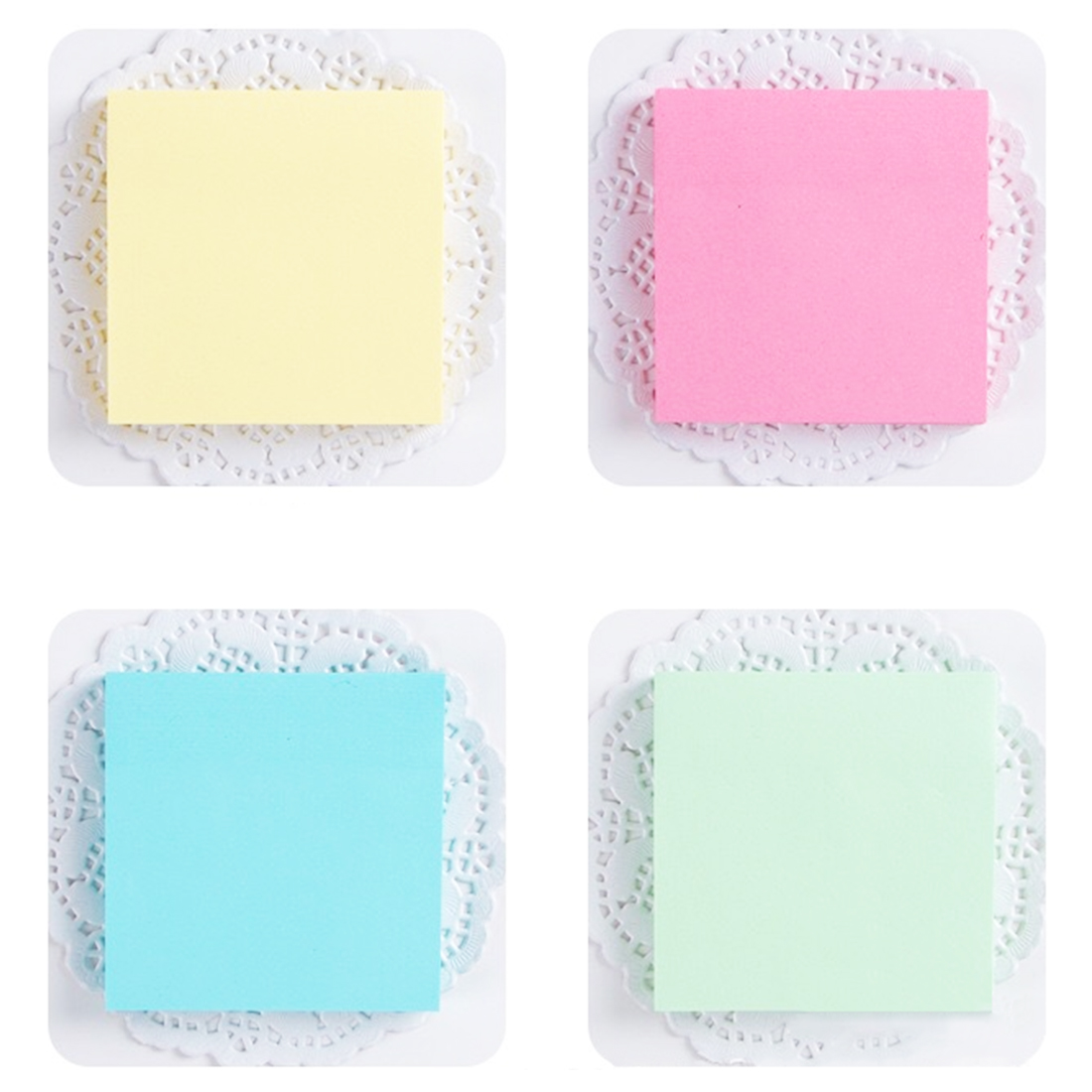 FangNymph Cute Portable Macaron Color Sticky Note Adhesive Paper Post Memo Pad Stationery Office Accessories School supplies