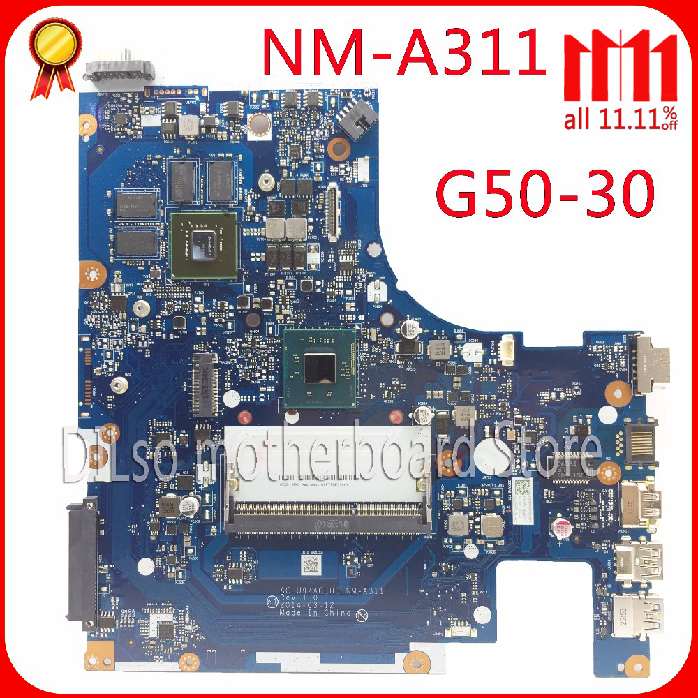 KEFU NM-A311 for Lenovo ACLU9 / ACLU0 NM-A311 MAIN BOARD For Lenovo G50-30 Laptop Motherboard DDR3 N2830/N2840 CPU Test