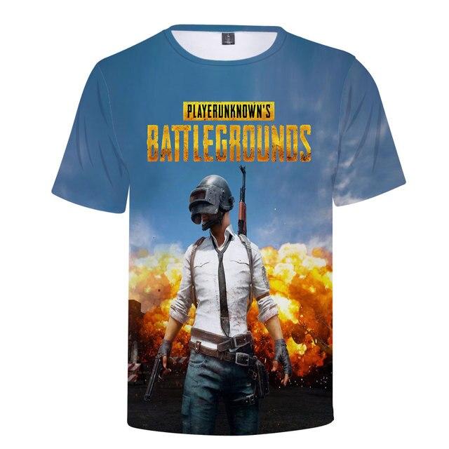 3D Game PUBG T-Shirt Summer New T Shirt Men's/Women 2018 Fashion Casual 3D Tshirt Men Harajuku PUBG 3D T shirts Men Tops