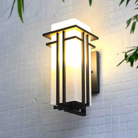 100% Quality Modern Simple European Waterproof Glass Iro Led E27 Outdoor Wall Lamp For Entrance Garden Street Park Porch Light