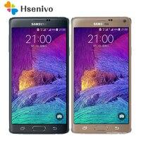 Оригинальный Note 4 разблокированный samsung Galaxy Note 4 N910A N910F N910P мобильный телефон 5,7 16MP 3 ГБ 32 ГБ мобильный телефон Восстановленный