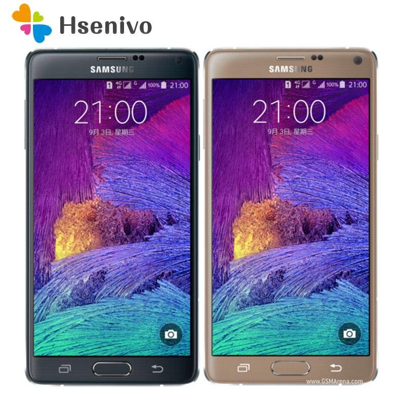 Originais Nota desbloqueado Samsung Galaxy Note 4 N910A N910F N910P 4 Cell Phone 5.7