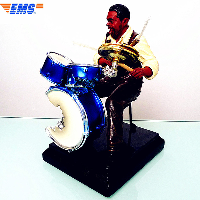 Jazz Drum Kit Drummer Sculpt Bust Famous Music Figure Statue Musician Desktop Decoration Office Souvenir Colophony Crafts L2727 touch wall switch us standard 1 gang 1way rf remote control light white crystal glass panel