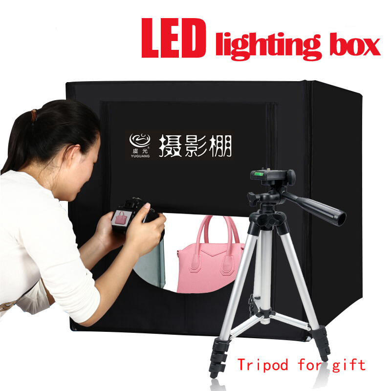 Yuguang Photo Studio Lighting Box Folding LED Photo Box 80cm Softbox Portable Lamp Accessories Upgrade Light Photography Kit 10pcs lot makeup brushes set powder foundation cream eye shadow eyeliner blush contour blending cosmetic makeup brushes tool kit