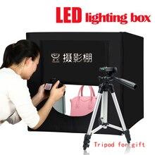 Yuguang Fotografia Iluminação LED Folding Photo Box 80 cm Lâmpada Foto Estúdio Softbox Portátil Acessórios de Atualização