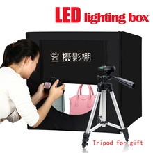 Yuguang Photography Folding LED Lighting Box 80cm Softbox for Photo Studio Accessories upgrade adjustable light Model