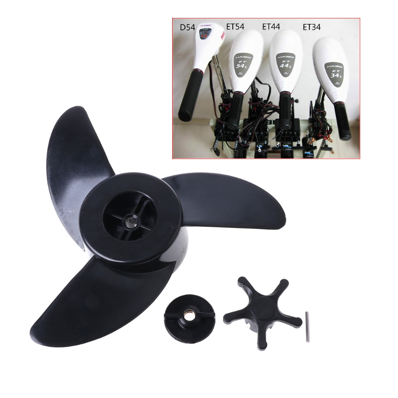 Free shipping Hot New 1 Set 3 Blades Motor Boat Propellers Electric Engine Outboard For Haibo ET34 ET44 ET54