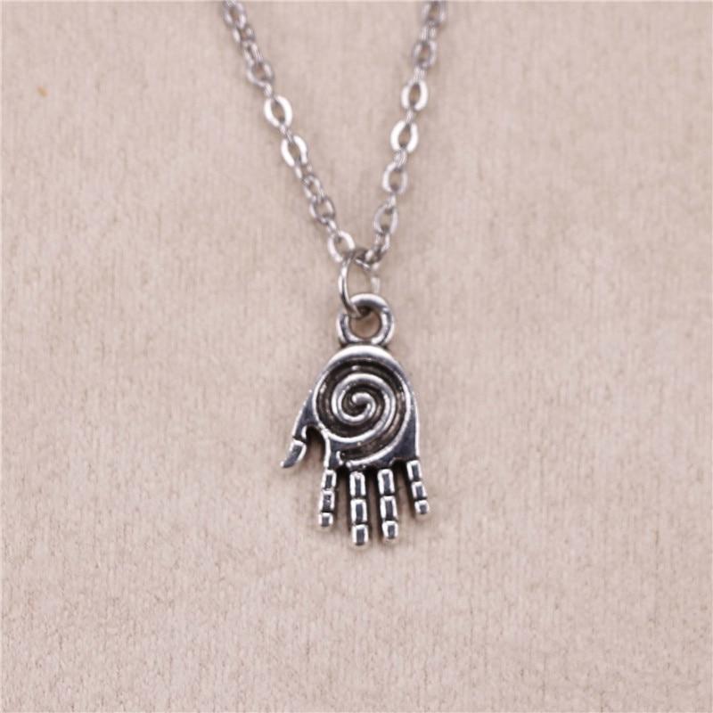 Necklaces & Pendants Chain Necklaces New Fashion Silver Pendant Hamsa Palm Hand Protection 18mm Necklace Women Exquisite Choker Necklace Jewelry Convenience Goods