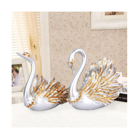 Swan Couple Model Statue Figurine Resin Home Ornaments Decor Wedding Gift Sculpture Living Room Decoration Accessories