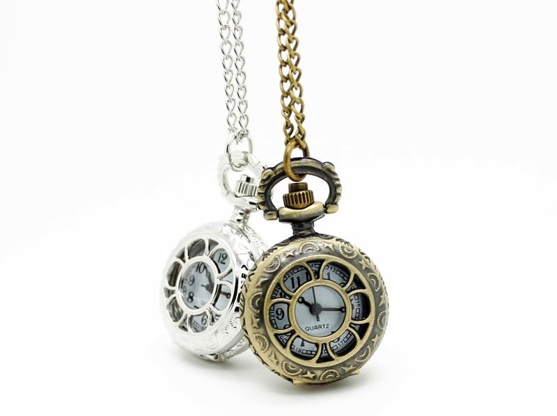 3009) 12 шт/партия винтажные Цветочные полые прозрачные стимпанк женские ожерелья карманные часы, вечерние подарок - Цвет: Mixed Color