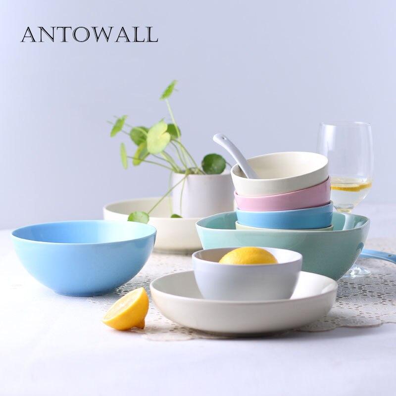 ANTOWALL haute qualité 22 pièces ensemble de vaisselle en céramique ménage multicolore glaçure vaisselle ensemble de thé mariage pendaison de crémaillère coffret