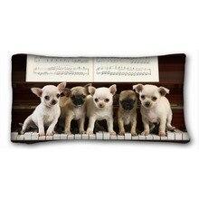 Cachorros Teclas de Piano de Música de La Vendimia Único Elegante Funda de Cojín Almohada Cubierta para Sala de estar Dos Lados de Impresión