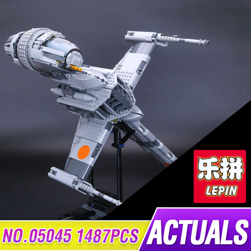 Lepin 05045 New 1487Pcs Genuine Star Series Wars The B Set Wing Starfighter Building Blocks Bricks Toys for gift legoed 10227 lepin 05040 star wars y wing attack starfighter model building kits blocks brick toys compatiable with lego kid gift set