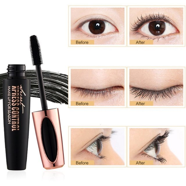 US Stock 4D Silk Fiber Lash Mascara Waterproof Rimel Mascara For Eyelash Extension Thick Lengthening Eye Lashes Cosmetics Tools 2